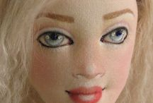 лицо кукол текстильных