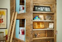 BED / bunk bed rustical barn