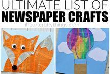 Újságpapir kreatív