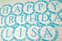 Frozen party supplies / Custom stationery for your next frozen themed party!