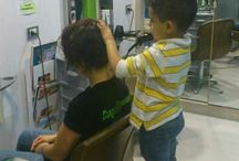 Hair dressing baby / Young hair dressing
