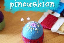 Pincushion,bottle top
