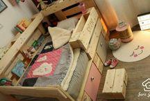 Children's bed from Europaletten – Pallet Furniture DIY from Saris Garage