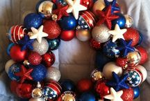 Red white blue wreath s
