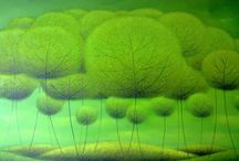 Vu Cong Dien paintings / The dreamiest landscapes that you might see... The artist who shows the deep affection for nature