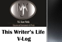 This Writer's Life V-Logs and Appearances! / This year I'm v-logging instead of just writing blogs. It's fun to put a face to the name. If you watch something you like, follow, and pin!