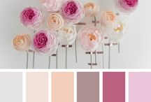Paper flower color palette