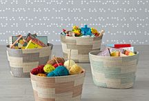 Storage Bins and Baskets / A collection of popular storage bins and baskets. Some of the pins feature DIY ideas while others are store bought storage containers via our affiliation with The Land of Nod. You'll find everything from tips and ideas for turning diaper and banker boxes into decorative storage baskets to canvas floor bins and woven shelf baskets. The variety of storage containers  from this reputable online company is vast and available in just about every colour, pattern and style imaginable.