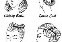 1940-1950 Vintage hair