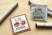 Halloween Cards and Crafts / Cards and Crafts for Halloween.  Treat Bags, Gift Cards, Lunch box notes