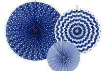 Deco mariage / Decoration table, interieur et exterieure bleu & blanc