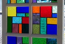 stained glass windows / vintage stained glass windows