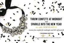 Sparkle Into The New Year / Throw Confetti at Midnight and Sparkle Into the New Year! Use code NEWYEAR2015 for a free bag of confetti from The Confetti Bar and 25% off all jewelry. Visit www.ShopTheShoppingBag.com/NewYearSparkle for some of our NYE favorites!  While supplies last. Offer ends 12/31/2014 at 11:59 pm EST. Online only at www.ShopTheShoppingBag.com / by The Shopping Bag
