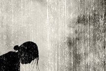 fille pluie