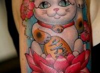 tattoo lucky cat