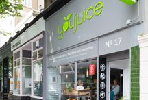 YouJuice / Brighton has been a UK health hub ever since King George IV suggested his subjects bathe in the English Channel to cure their ailments, back in the 1780s. It is also innovative, unique and fashionable, making it the perfect place for high-end raw juice bar YouJuice. Rocket Projects transformed the little shop in Hove into a fresh, modern enterprise.
