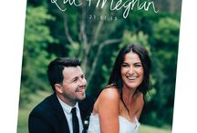 """Wedding Thank You Cards / Say a big """"thank you"""" with a cute photo thank you card after your wedding day."""