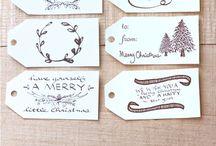 Наклейки для рождественских подарков