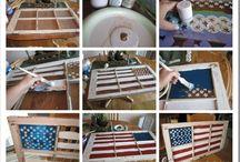 Flag painted windows / by Carolyn Hirt