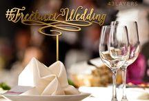 Freetucci Wedding Signage / Laser cut signage for Brent & Melina's wedding
