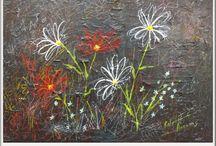 Fleurs / Arlette Paradis Artiste Peintre Huile ou acrylique et huile