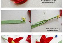 Filcowe kwiaty