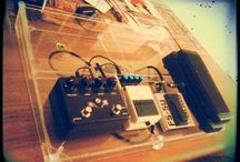 Guitar pedalboard diy  / Made from some perspex offcuts