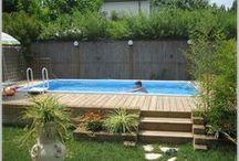 verano y la piscina
