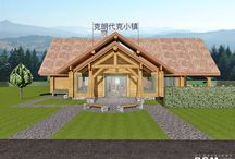 Shanghai Lodge Project / Previous to my trip to Shanghai, we designed a reception lodge for a vacation resort by a large lake south of Shanghai. #loghomedesign #lodgedesign