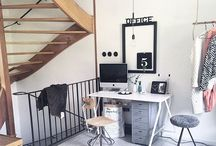 Organised Work Spaces / How to keep your work space clutter free and totally workable.
