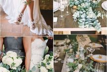White green wedding flowers