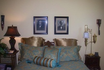 Out of Africa / My bedroom decor in an African theme.