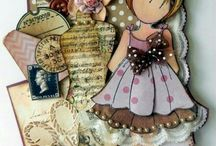 Prima Dolls / Mixed Media Girl Art