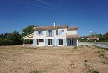 Maison type mas provençal / Construction de maison neuve moderne de type mas de provence. Réalisation et suivi par la société de maîtrise d'œuvre VI2A SARL. Région Rhône-Alpes