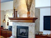 Stone Fireplaces Application