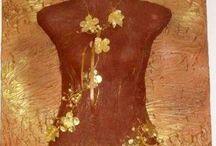 handmade body panels of plaster