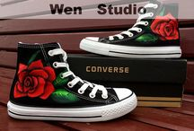 Handpainted Shoes / Decorating Ideas for Shoes / by Judy's CreativeDoodling