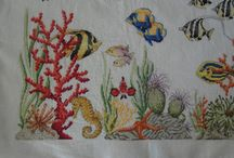 Punto croce schemi / Pesci tropicali