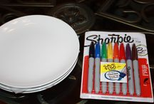 Sharpie plate / cup / bowl