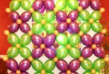 Mardi Gras Party Decorations / Balloon decorations: arches, columns, walls and other centerpieces