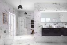Marble Bathrooms / On trend marble bathrooms