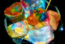Rough Rubah Calsedony Multi Colour