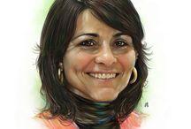 """Retratos de Fran Moreno / Retratos realizados con diferentes técnicas digitales para ilustrar las páginas de política de """"El periódico de Villena"""""""