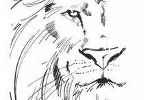 Tatuaż Z Lwem