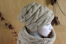 SLOUCHY HAT BEANIE / Slouchy Hat Beanie  Cable Hat
