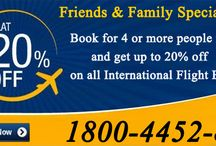 Special Deals on International Flight Booking / Friends & Family Special offer  Book for 4 or more people together and get up to 20% off on all International Flight Booking.For more information please visit our website http://www.uniquetrip.com Or Call Our Travel Expert AT 1800-4452-810.