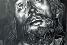 Carboncillo y Lápiz / Carboncillo y Lápiz es una recopilación de obras de José Luis Ponce en esta técnica. Basado en retratos en su mayoría, el dominio de esta técnica aporta un gran realismo a sus creaciones.