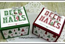 Christmas Decorated Shoe Boxes