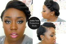 Twisted up do hairstyle for black women