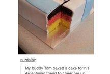 Argentina vs Germany cake
